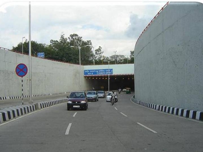 UNDERPASS AT ROTARY NEAR DOMESTIC AIRPORT ALONG ROAD CONNECTING TO DWARKA, NEW DELHI